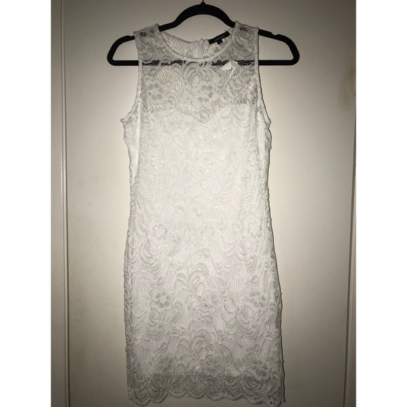 Short Tight White Lace Dress Nwt